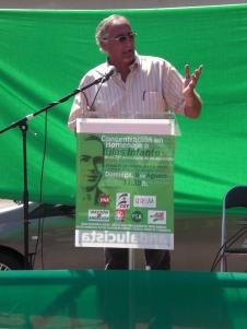 José A. Pino, portavoz del PSA, en un momento de su intervención